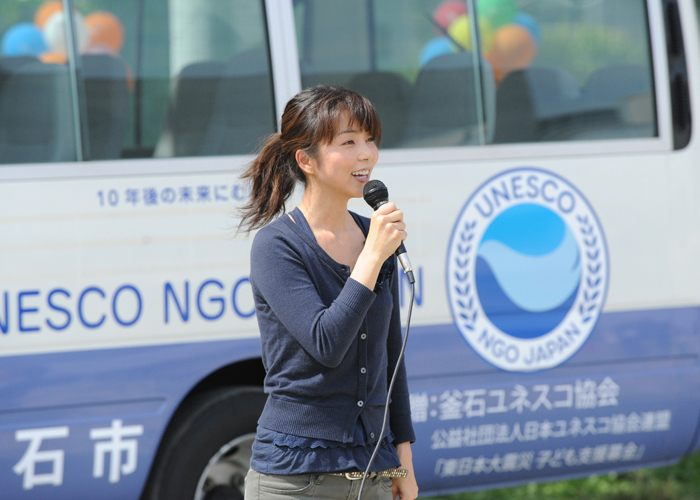 スクールバス贈呈(釜石市)