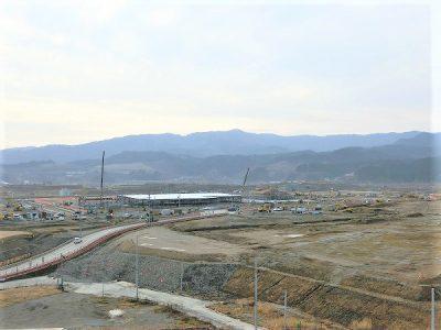 陸前高田 商業施設を建築中