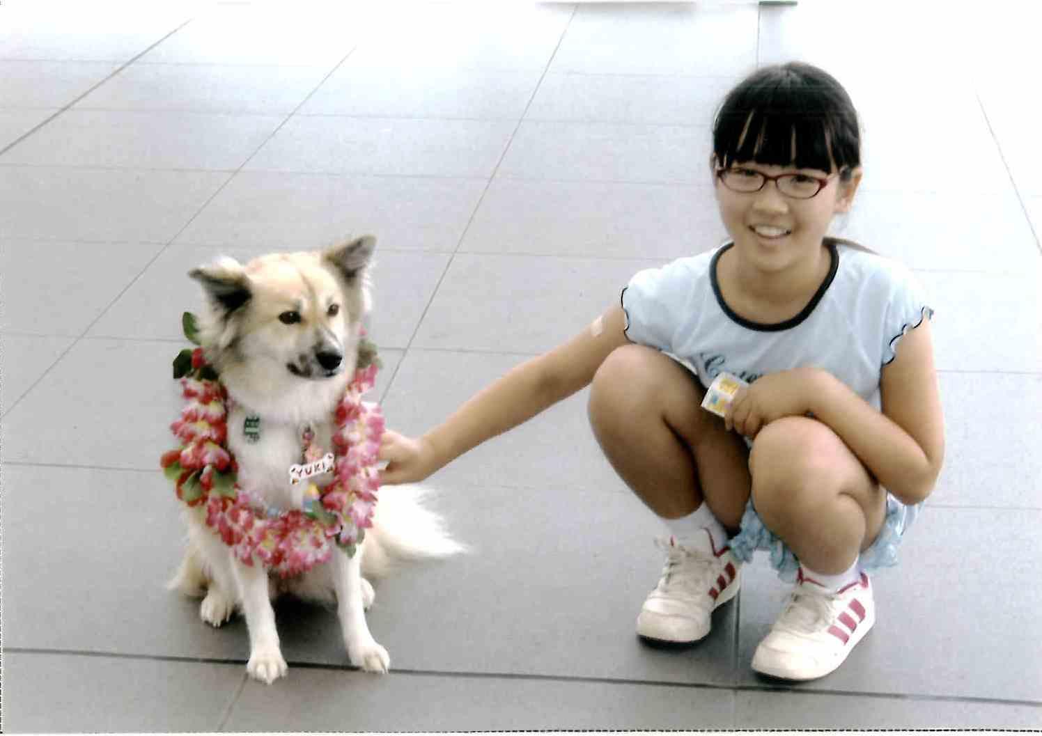 ラッキー犬のユキちゃんと。